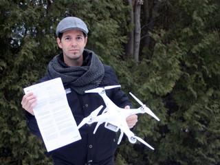 Il conteste son amende pour avoir fait voler un drone en ville