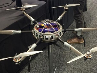 Ultra-light 3D printed titanium firefighting drone to aid in bushfires