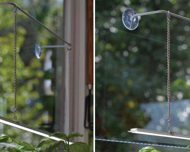 Sugekopp stativ for lysoppheng på vindu