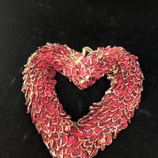 Rødt skinnende hjerte