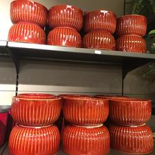Røde potteform 2 størrelser
