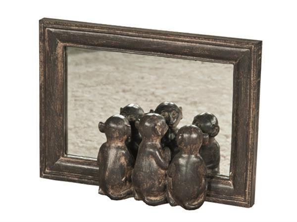Sjarmerende aper som speiler seg