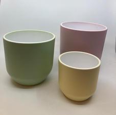 Pastell Gul Rosa, Grønn i 3 størrelser