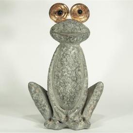 Glad frosk med skinnende øyne