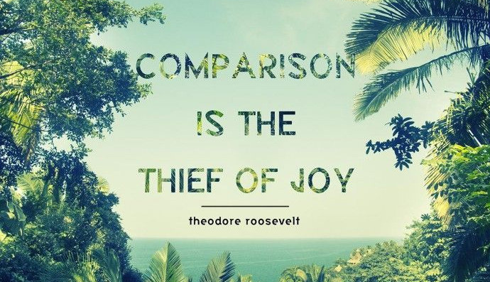Inspirational quote on comparison