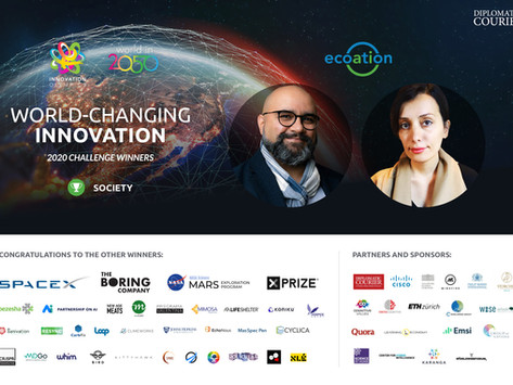 """""""Canada's CleanTech rising star, Ecoation, wins World in 2050's Olympics of Innovation"""""""