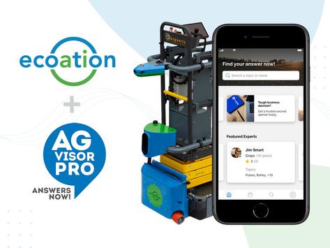 Data-Driven Analytics Meet Remote Ag Expert Advice: ecoation & AGvisorPRO Announce Collaboration