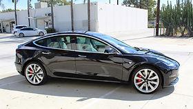 Black Model 3 Tesla