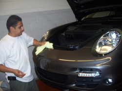 Preparing Porsche for Clear Bra