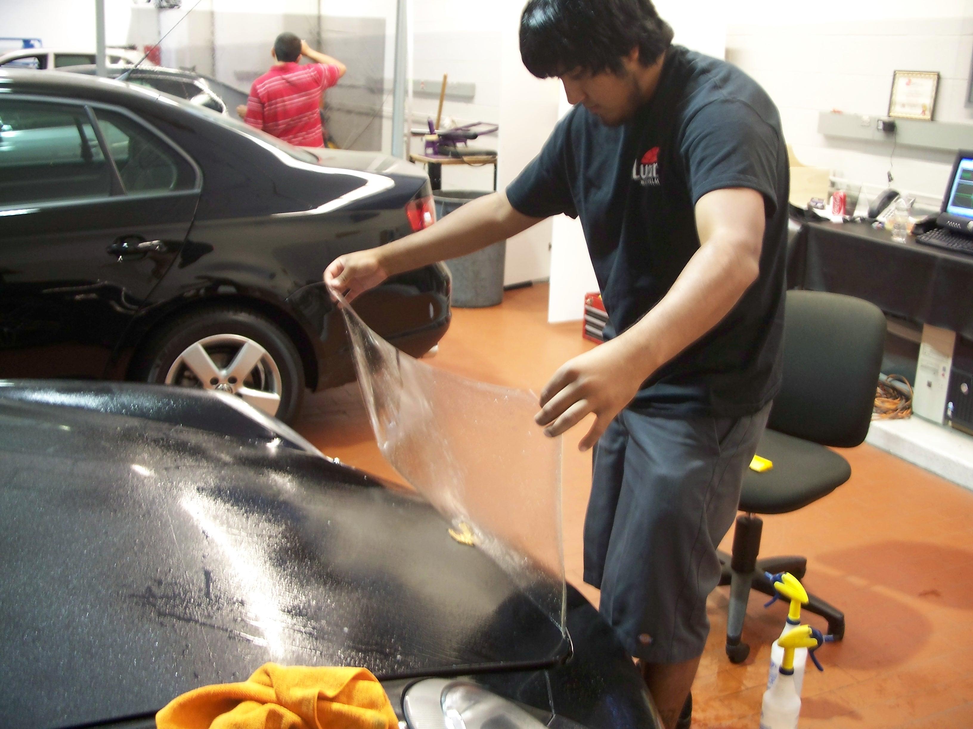 Ivan installing PPF