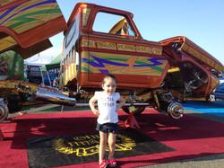 Phoebe at car show
