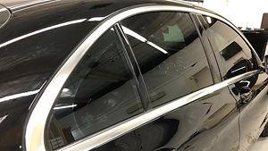 mecedes chrome delete, black window trims