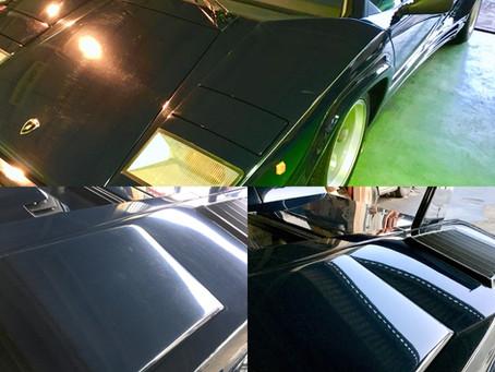 カウンタック 内装補修と外装磨きコーティング