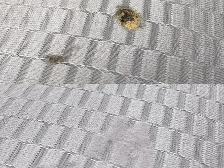 シート焦げ穴補修