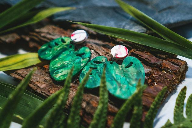 Window Leaf Earrings - 100% Recycled