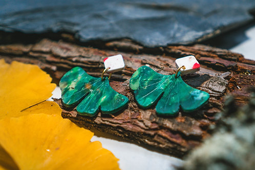 Ginkgo Biloba Earrings - 100% Recycled