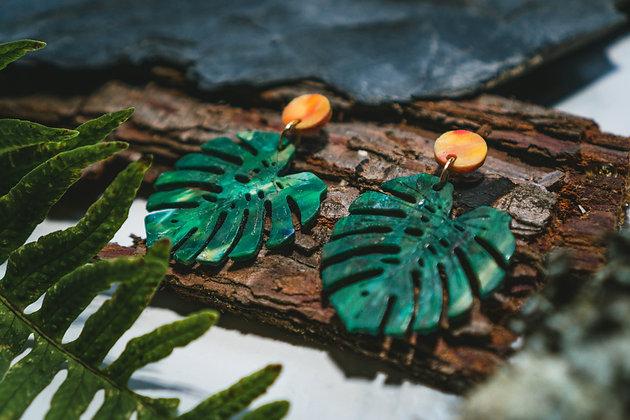 Monstera Earrings - 100% Recycled