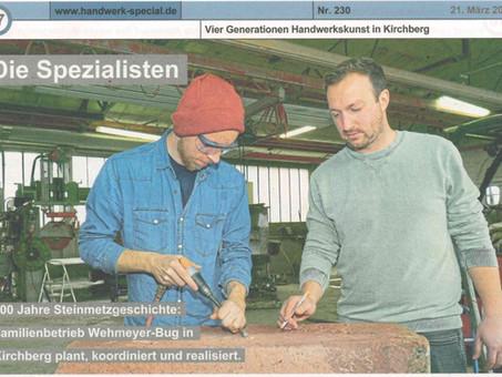 Vier Generationen Handwerkskunst - Beitrag im Handwerk Special der Handwerkskammer