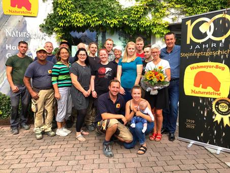 100 jähriges Firmenjubiläum  des Steinmetzbetriebes Wehmeyer-Bug in Kirchberg im Hunsrück