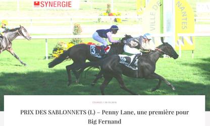 Penny Lane s'impose dans le Prix des Sablonnets (L).