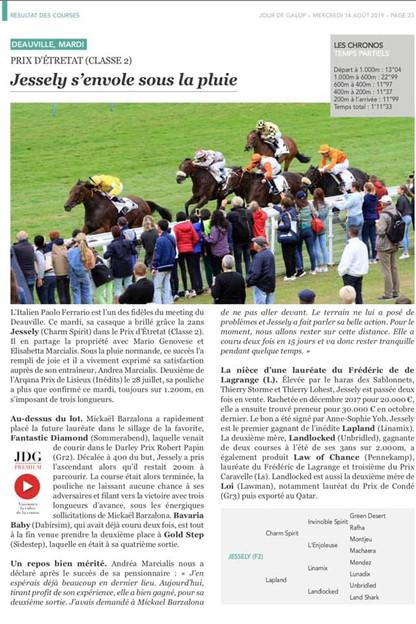 Victoire de Jessely à Deauville