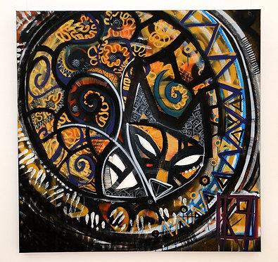 Original painting - K9 - Shamanic Fox