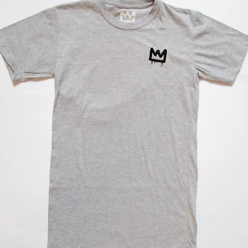 SMALL embroidered long line crown tee