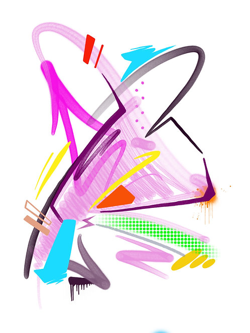 Abstract R - A3 art print by REAL1
