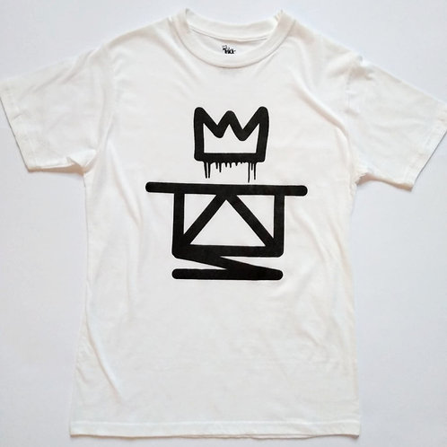 white abstract thieves logo