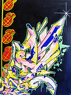 graffiti / street art on canvas / original art
