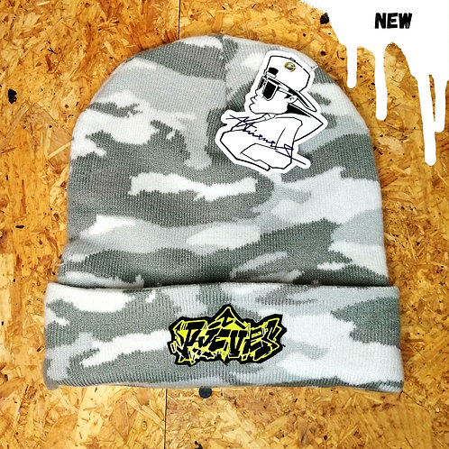 Winter camo graff beanie