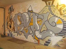 graffiti / street art on walls