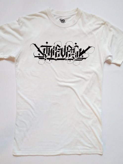 Thieves white calligraff tee