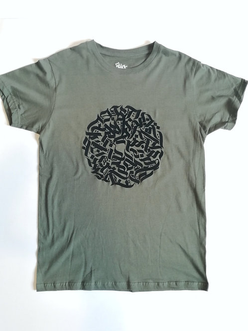 Thick as thieves calligraff sphere tee