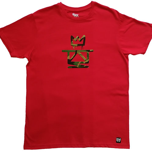 Thieves red camo crown tee