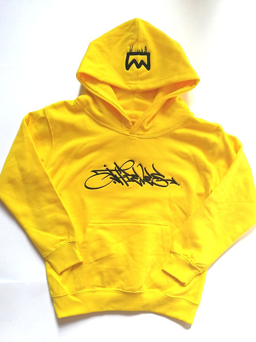 Lil Thieves kids yellow embroidered hoodie