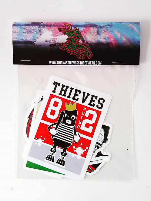 Thick as thieves sticker pack