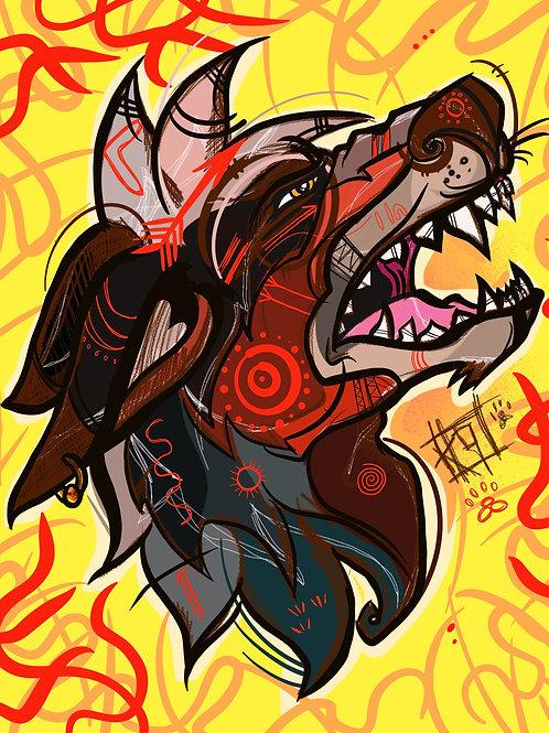 Alpha - A3 artist print by K9