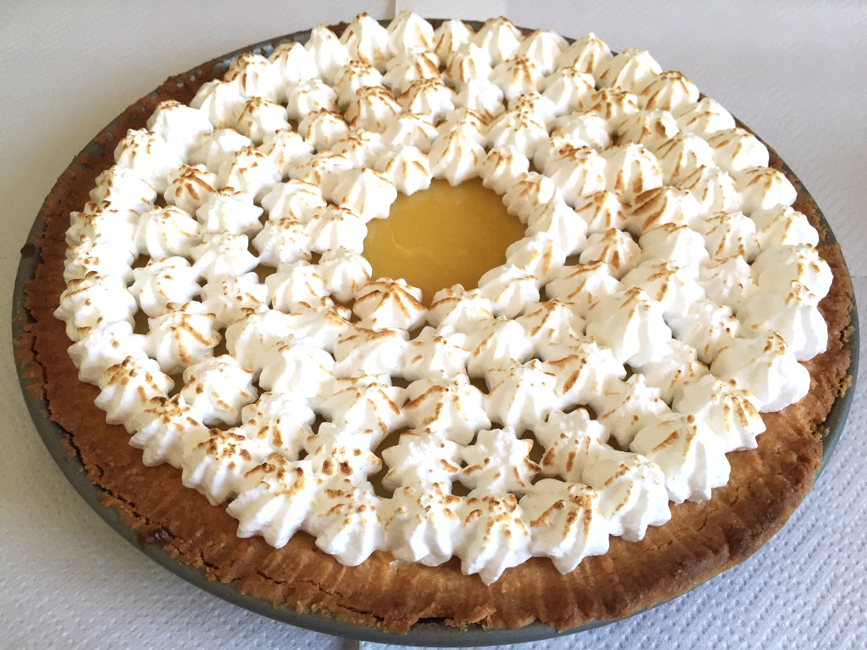 torta al lemon curd con meringa italiana