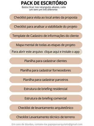 PACK DE ESCRITÓRIO - GERENCIAMENTO DE PROJETOS