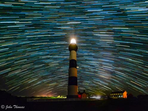 Star Trails Over Bode Light