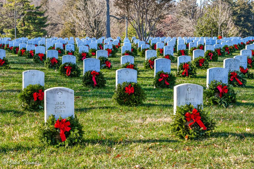 Arlington National Cemetery at Christmas