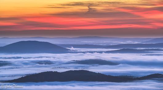 Morning Fog, Shenandoah National Park