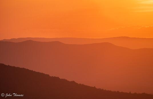 Hazy Sunset, Shenandoah National Park