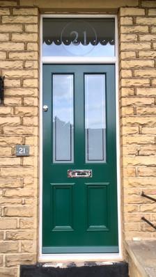Hardwood door and frame