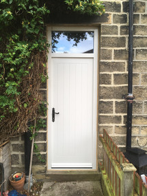 Farmhouse-style front door