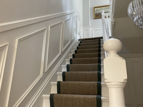 Staircase panelling and mouldings