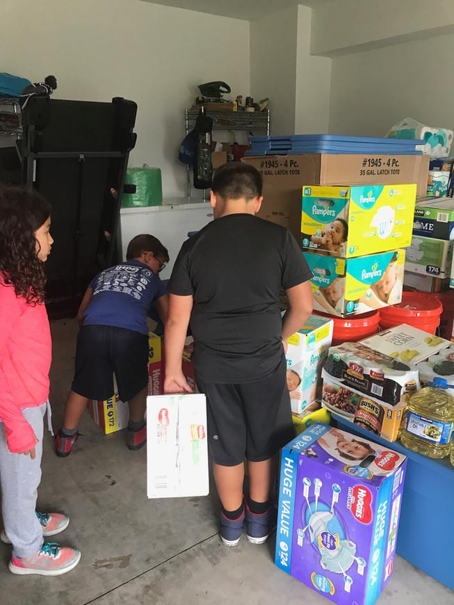 Organizing donations