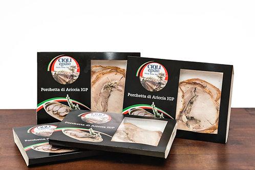 Porchetta di Ariccia IGP affettata 1,5 kg