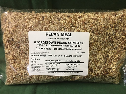 Pecan Meal - Small pieces, much smaller than chopped